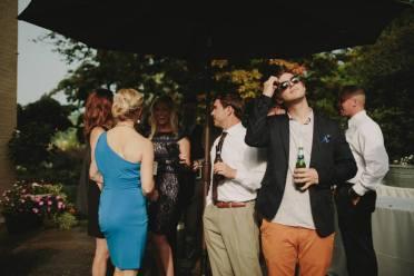 Patio Wedding guests